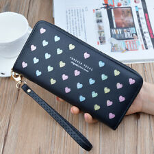 Women Cute Long Wallet Leather Purse Phone Bag Card Holder Wallets Money clip