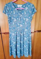 SEASALT CORNWALL BLUE FLORAL 'CARNMOGGAS' DRESS - SIZE 12 BEAUTIFUL!