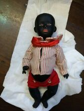 "HEUBACH #7602 CHARACTER 9"" African American BABY DOLL Original Clothes"