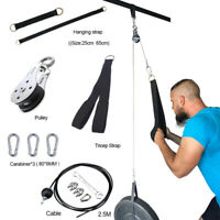 DIY Fitness Pulley Cable System Pull Load Lifting Triceps Rope Strength Training