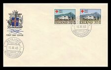 Iceland 1963 FDC, Centenary of the Red Cross. Lot # 11.