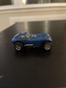 "Vintage 1960's Aurora #1403 Blue ""Cheetah"" T-Jet HO Slot Car Blue/Black"