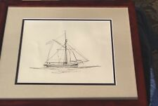 Gordon Grant Original Art (Ink Drawing 1935) The Gjoa