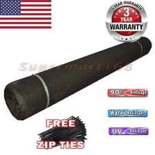 Free Zip Ties 6' x150' Black Fence Privacy Screen Windscreen Mesh Fabric Garden