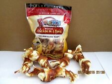 "3 Bags of Poochie Dog Treats ""Chicken On A Bone""-Total Bones 15 & Sample Treats"