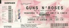 RARE / TICKET BILLET DE CONCERT - GUNS N' ROSES : LIVE A PARIS ( FRANCE ) 2017