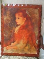 WOOD LACQUER RENOIR GIRL TRAY WALL DECOR TABLE TOP