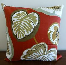 """Monstera Deliciosa"" rubber tree leaves print cushion cover"