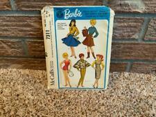 Barbie Doll Clothes Pattern Vintage McCalls #7311 Uncut Copyright Mattel 1964