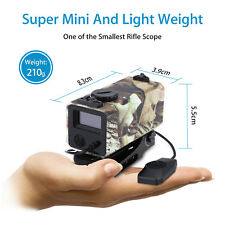 Mini Tactical Rifle Scope Laser Hunting Range Finder with Mounts 700m B12