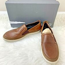 ECCO Mens Collin Perforated Leather Slip-On Shoes Loafers US 8 8.5 EU 42 NIB