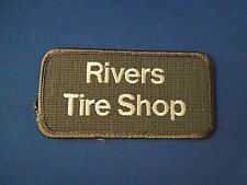 Rivers Tire Shop Uniform Advertising Cars Embroidered Iron On Patch