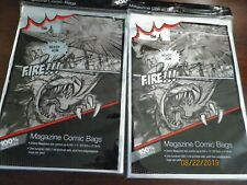 200 ULTRA PRO MAGAZINE COMIC BAGS, NEW, ACID-FREE