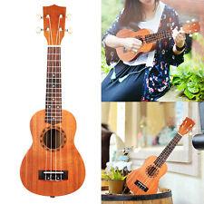 "New PRO 21"" Ukulele UKE 12 brass frets Musical Instrument Hawaiian Guitar Brown"