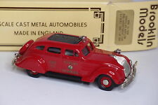 BROOKLIN BRK 7X CHRYSLER AIRFLOW FIRE DEPARTEMENT CAR SAN FRANCISCO 1/43