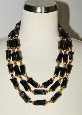 superbe collier ancien 3 rangs en pate de verre Murano