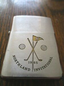 Vintage*1965*Northland Invitational*Golf*Golfing*Zippo Lighter*