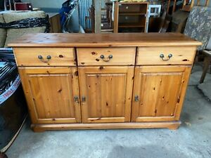 Solid Natural Pine Sideboard Kitchen Cabinet Cupboard Unit