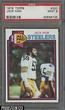 JACK HAM 1979 TOPPS FOOTBALL CARD #320 GRADED PSA 9 MINT