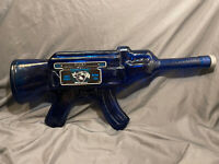AK-T Blue Blanco Glass Tequila Bottle AK-47 agave Mexico Institucional 80 proof