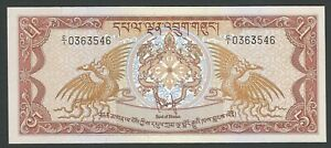 BHUTAN 5 NGULTRUM 1981 P 7 UNC