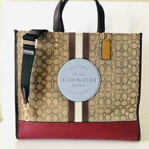 Coach Dempsey Tote 40 Signature Jacquard Logo Patch X Large Travel Bag NWT $450