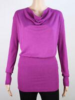NEW Full Circle womens Size 10 Small lightweight knit fushia cardigan