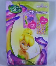 32 Count Disney Fairies Valentines Day Cards W/ Stickers Tinkerbell Classroom