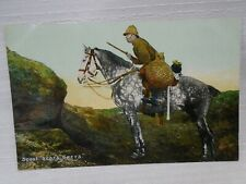 Scout for Scots Greys Soldier in Uniform Postcard Mounted Horseback Pre WW1