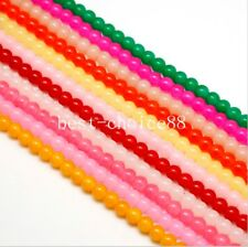 Free Ship 100pcs Round Crystal Glass Spacer Beads for Jewelry Making 4 6 8mm