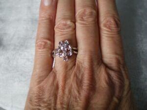 Zambezia Morganite ring, size N/O, 1.28 carats, 3.49 grams of 925 Sterling Silve