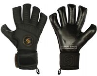 Supersave Pro Suprema Hybrid cut Contact Black Football Goalkeeper Gloves
