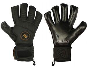 Supersave Pro Suprema Hybrid cut Contact Black Goalkeeper Gloves ***MEGA OFFER**