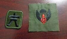 ARMY PATCH,  509TH INFANTRY RGT,OPFOR SET HELM PATCH AND OPFOR WINGS, OD,BDU
