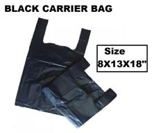 Strong Plastic Vest Carrier Bags For Supermarkets Stalls ARIES(BLACK)