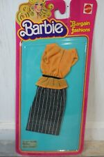 Barbie Bargain Fashions Outfit Clothes NOS on Card 3439 Skirt and Blouse