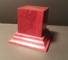 1.75x1.75x2.5 Hand Made Wooden base for figures/miniatures - Solid Purple heart