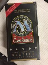 Magic The Gathering 1998 World Championships Brian Hacker Deck/video Sealed