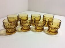 "Set Of 8 Piece Anchor Hocking Glass GEORGIAN Amber Topaz Whiskey 3"" 6oz Perfect"