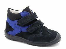 Superfit Infante Niños Reino Unido 5.5 Negro Azul Gore-Tex Bota De Cuero Tobillo Zapatillas Nuevo