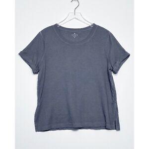 ATHLETA Oversized Boxy Top Rolled Short Sleeves T-Shirt Casual Gray size Medium