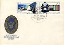 Ersttagsbrief DDR MiNr. 2490-2491, Nachrichtenübertragungsmittel der Deutschen P