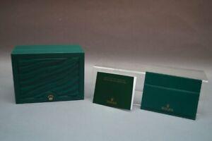 ROLEX Original Verpackung Uhrenbox dunkelgrün mit goldfarbener Krone 8x15x11,5