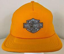 Vintage 80s HARLEY DAVIDSON Motorcycles Foam Mesh Trucker Hat Cap DEADSTOCK