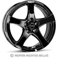 4 x Alufelge Borbet F 6,5x16 ET50 black glossy