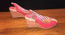 Womens Sperry Top-Sider Red Wedge Heels. Size 7.5M