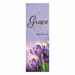 Grace X-Stand Banner Celebrations Banners NEW Church  Ephesians 2:8