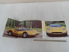 DEPLIANT ORIGINALE FERRARI DINO 246 GT 1970 ORIGINALE BROCHURE PROSPEKT
