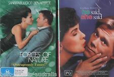 Forces Of Nature + He Said, She Said DVD 2-MOVIES BRAND NEW Sandra Bullock  R4