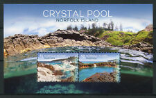 Norfolk Island 2018 MNH Crystal Pool 2v M/S Tourism Landscapes Nature Stamps